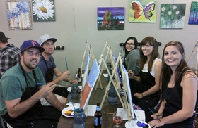 Sipping N' Painting Hampden: Painting Party Admission for One or Two at Sipping N' Painting Hampden (Up to 45% Off)