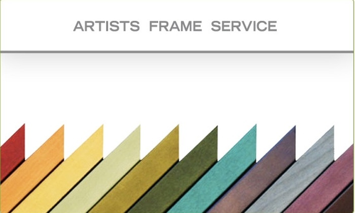 60% Off Custom Framing and More - Artists Frame Service | Groupon