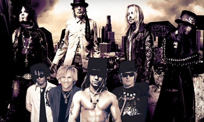 Mötley Crüe, Poison, and New York Dolls at the Verizon Wireless Amphitheatre Charlotte - Harris - Houston: Two Tickets to See Mötley Crüe, Poison, and Special Guests New York Dolls on July 12 at 7 p.m. at the Verizon Wireless Amphitheatre Charlotte