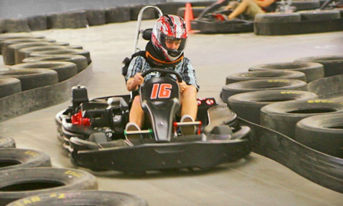Full Throttle Indoor Karting  - Springdale: $15 for a One-Year Membership to Full Throttle Indoor Karting and Head Sock ($32 Value)