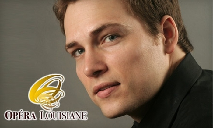 """Opéra Louisiane - Baton Rouge: Up to 53% Off Tickets for Opéra Louisiane's """"Chanson d'Amour."""" Choose Between Two Options."""