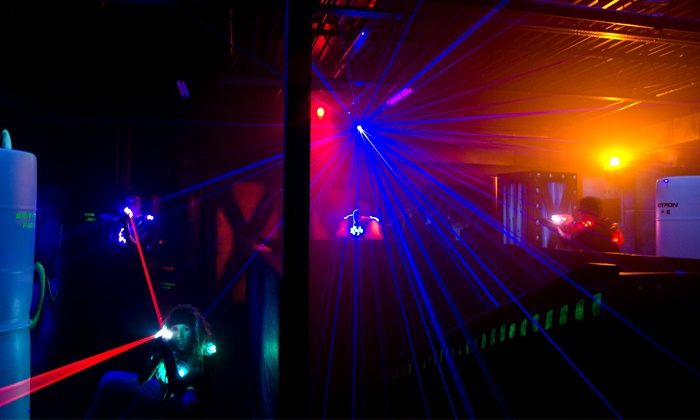 Track 21 - Houston: Three Games of Laser Tag and Soda for Two, Four, or Six People at Track 21 (46% Off)