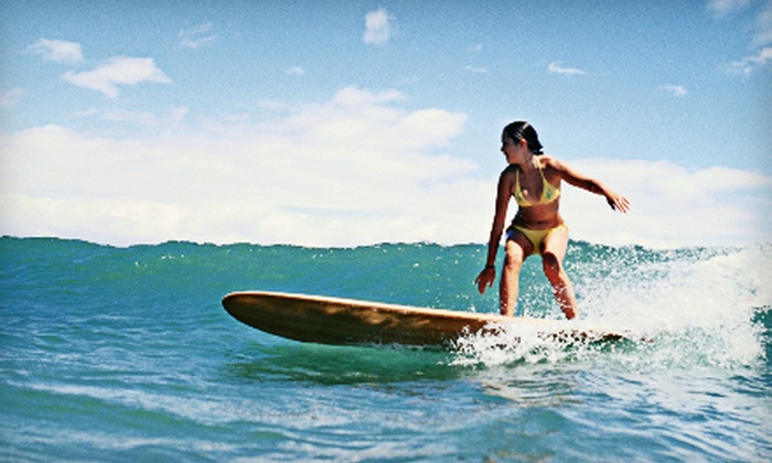 Bayou Shuttle Service - Surfside Beach: Surfing Lesson for One or Two, or Individual or Family Season Membership from Bayou Shuttle Service (Up to 56% Off)