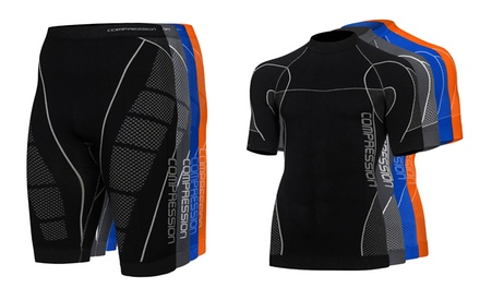 Tenue de compression pour homme : tee shirt et short