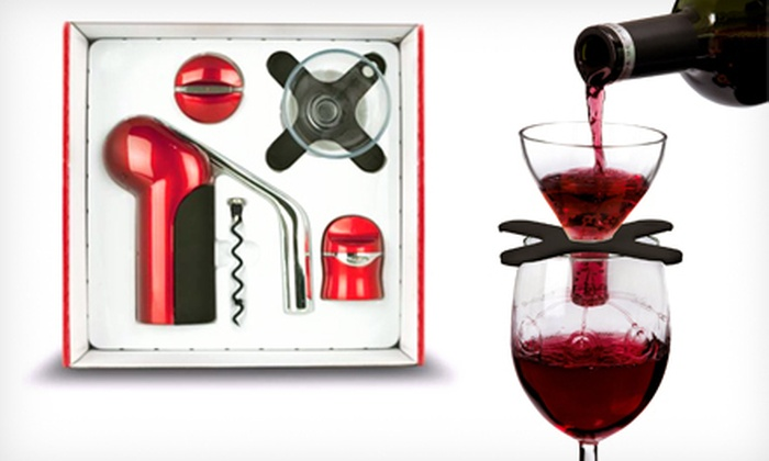Houdini Wine Accessories Gift Set: $25 for a Metrokane Houdini Wine-Accessories Gift Set with Opener, Sealer, and Aerator ($66 Value). Four Colors Available.
