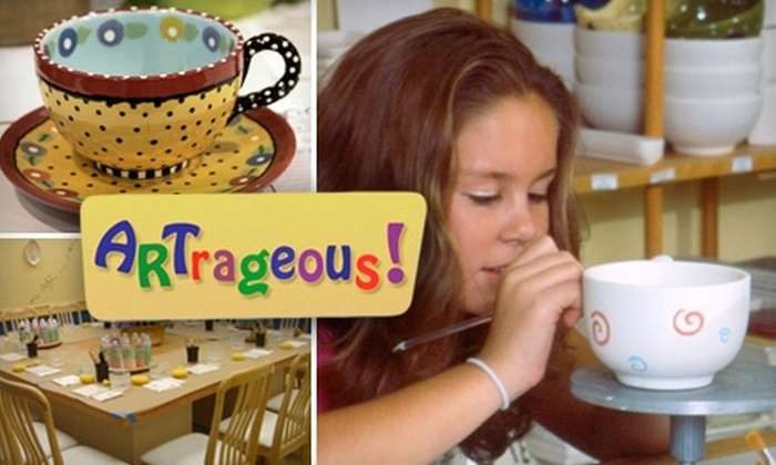 ARTrageous! - Long Island: $13 for $26 Worth of Paint-Your-Own Pottery at ARTrageous!