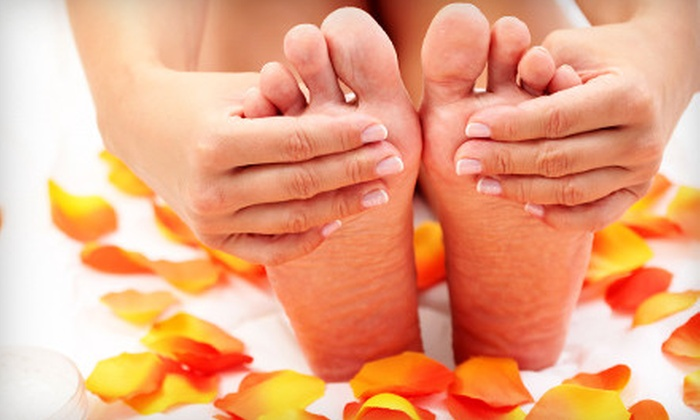 Head Over Heels Salon - Woodward Park: $29 for Mani-Pedi at Head Over Heels Salon (Up to $65 Value)