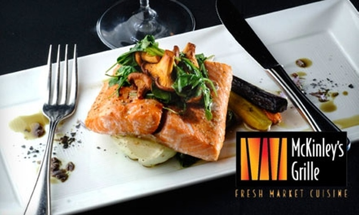 McKinley's Grille - Pomona: $15 for $30 Worth of Fresh Market Fare and Drink at McKinley's Grille in Pomona