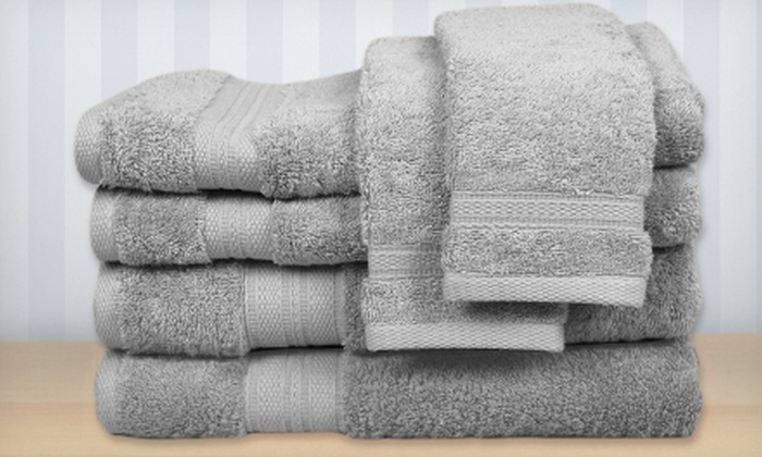 Luxury Cotton-Bamboo Blend Towel Set: $39 for a Luxury Cotton-Bamboo Blend Six-Piece Towel Set ($107.94 Value). Multiple Colors Available.