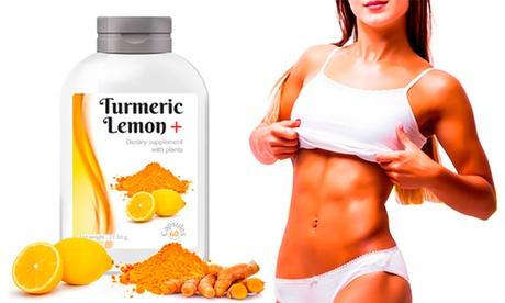 Hasta 720 cápsulas de suplemento de cúrcuma con limón de curado