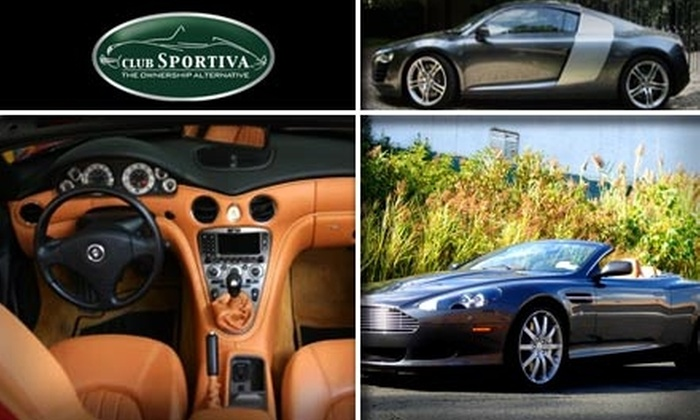 Club Sportiva - San Jose: $450 for 1 Full Day to Drive a Maserati Spyder, Audi R8, or Aston Martin Volante DB9 Through Club Sportiva (Up to $1,548 Value)