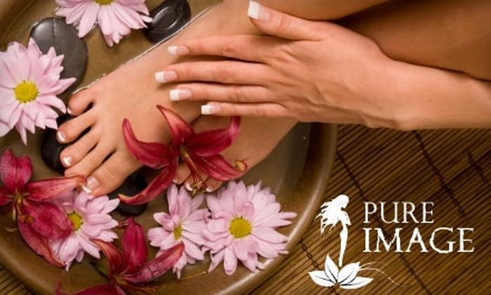 Pure Image Salon & Spa - Mount Lebanon: $22 for a Pure Image Signature Mani-Pedi at Pure Image Salon & Spa ($45 Value)