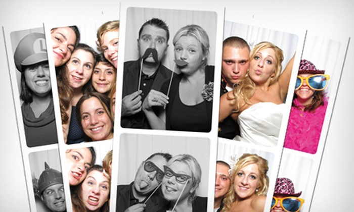 The Boardwalk Photo Booth Company - Virginia Beach: $599 for a Photo-Booth Rental with Props for Up to Five Hours from The Boardwalk Photo Booth Company ($1,250 Value)