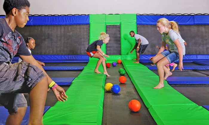 Airbound Trampoline Park - Multiple Locations: Two One-Hour Jump Passes at Airbound Trampoline Park (Up to 50% Off)