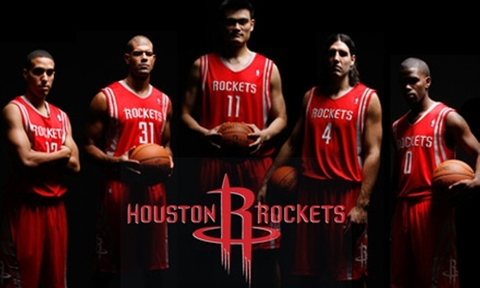 Houston Rockets - Downtown: Ticket to a Houston Rockets Game and a T-shirt. Choose from Two Seating Options and Three Games.