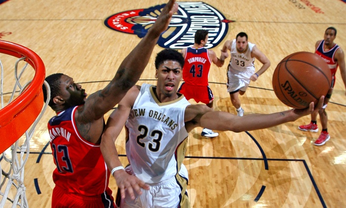 New Orleans Pelicans - Smoothie King Center: New Orleans Pelicans Game at Smoothie King Center on March 25 or April 10 (Up to 77% Off). Three Seating Options.