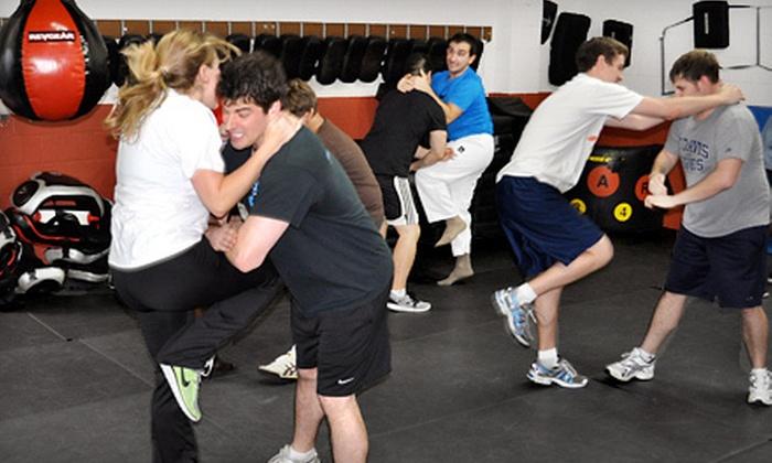 KMLI's Blitz Krav Maga  - Multiple Locations: 5 or 10 KMLI's Blitz Krav Maga Basic-Training Classes at Krav Maga at KMLI (Up to 76% Off)