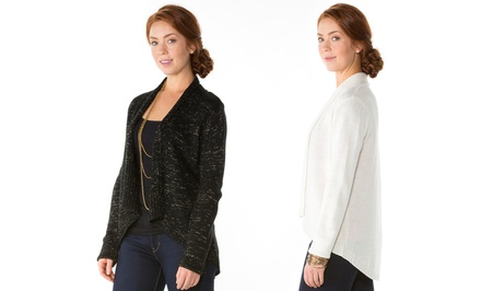 Metallic-Fleck Cardigan by Sociology
