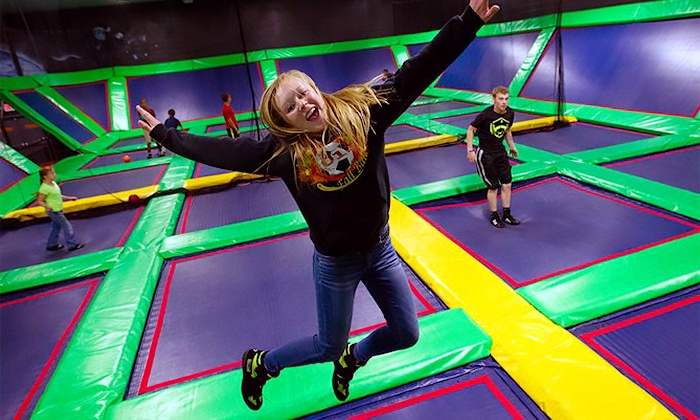 Lazer Kraze - Multiple Locations: Two 60-Minute Indoor Trampoline Sessions at Lazer Kraze (Up to 50% Off). Two Options Available.