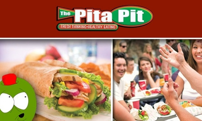 Pita Pit - Multiple Locations: $5 for $10 Worth of Stuffed Pitas and Drinks at The Pita Pit