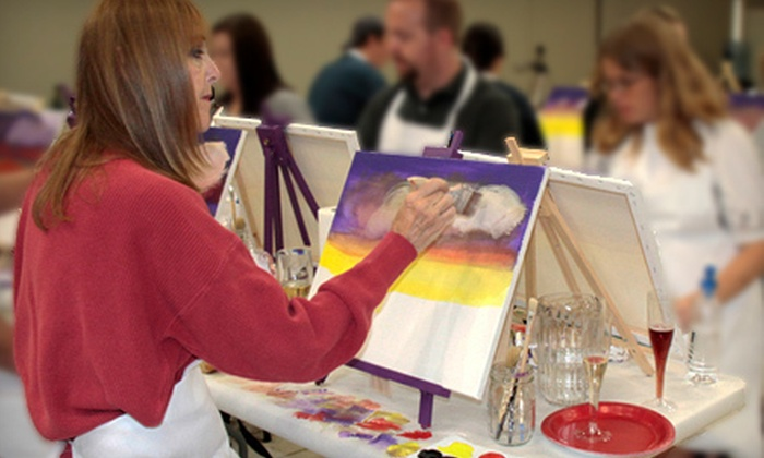 Purple Easel - Rancho Cucamonga: BYOB Painting Class for Two or Four at Purple Easel in Rancho Cucamonga (Up to 62% Off)