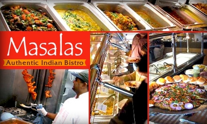 Masalas - Overland Park: $15 for $30 Worth of Authentic Indian Cuisine at Masalas Authentic Indian Bistro