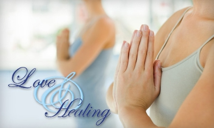 Love & Healing - Trumbull: $40 for a One-Hour Massage ($80 Value) or $19 for Two Yoga Classes ($40 Value) at Love & Healing