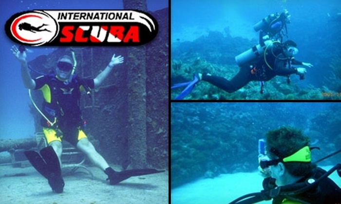International Scuba - Multiple Locations: $149 for Scuba Certification Class at International Scuba ($309 Value)