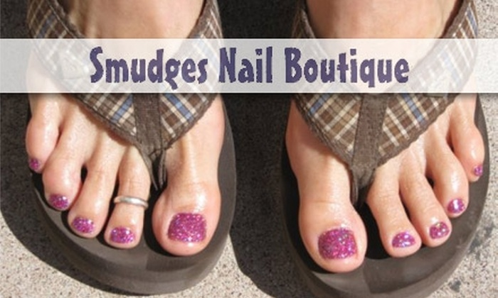 Smudges Nail Boutique - Downtown Scottsdale: $42 for a Twinkle Toes Nail Treatment and Bubbly Spa Pedicure at Smudges Nail Boutique ($85 Value)