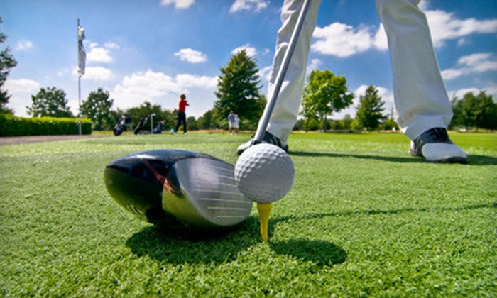CityGolf Boston - Multiple Locations: 1-Hour Golf-Swing-Analysis Session or 2.5 Hours of Golf-Simulator Play at CityGolf Boston or Walpole (55% Off)