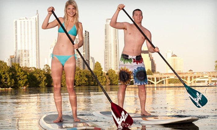 Austin SUP Tours - Riverside: 5 or 10 Hours or Full Season of Paddleboard Rentals at Austin SUP Tours (Up to 55% Off)