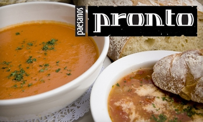 Pronto - Midtown: $10 for $20 Worth of Italian Comfort Fare and Drinks for Dinner at Pronto