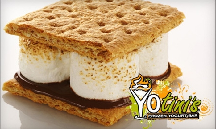 YOtini's - Northeast Virginia Beach: $10 for a S'mores Platter for Four and Four Hot Chocolates at YOtini's ($21.75 Value)