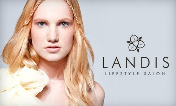 Landis Lifestyle Salon - Multiple Locations: $47 for a Caribbean Mani-Pedi or Essential Facial with a Green Science Plant Peel at Landis Lifestyle Salon
