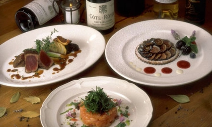 The WineSellar and Brasserie - San Diego: $30 for $60 Worth of French Dinner Fare (or $15 for $30 Worth of Lunch) at The WineSellar and Brasserie