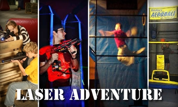 Laser Adventure - Goodlettsville: $21 for Unlimited Laser Tag, Aeroball, and Rock Climbing for Two at Laser Adventure ($43.50 Value)