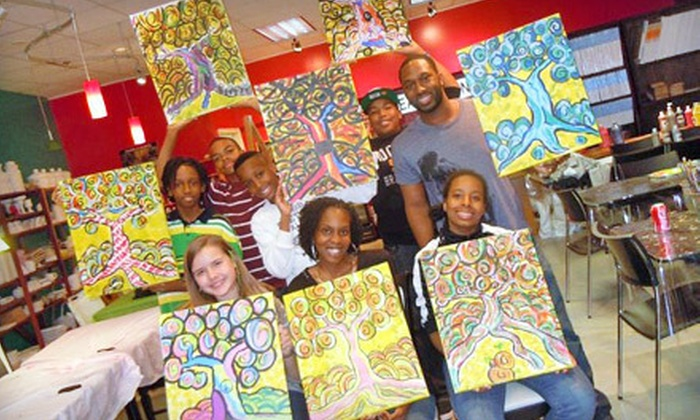 Sip & Stroke - Ellard: Adult BYOB Painting Class for One or Two or Kids'-Camp Art Class at Sip & Stroke in Johns Creek (Up to 57% Off)