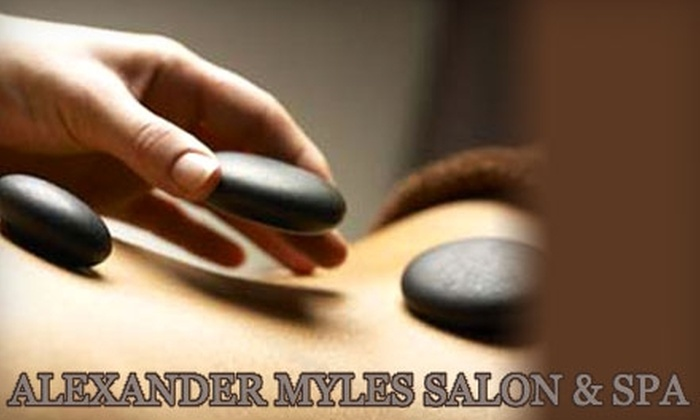 Alexander Myles Salon & Spa - Hilltop: $55 for a 90-Minute Hot-Stone Massage at Alexander Myles Salon & Spa ($110 Value)