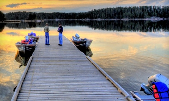 Rough Rock Lodge - Saskatoon: Four-Day, Five-Night Fishing Trip for One or Six People to Rough Rock Lodge in Minaki