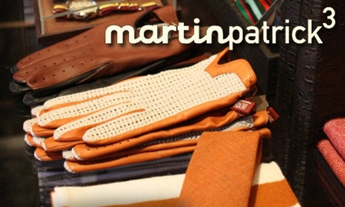 MartinPatrick3 - Warehouse District: $35 for $70 Worth of Luxury Men's Accessories at MartinPatrick3