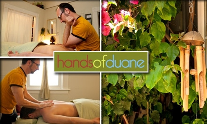 Hands of Duane - Duboce Triangle: $50 for a 90-Minute Massage at Hands of Duane
