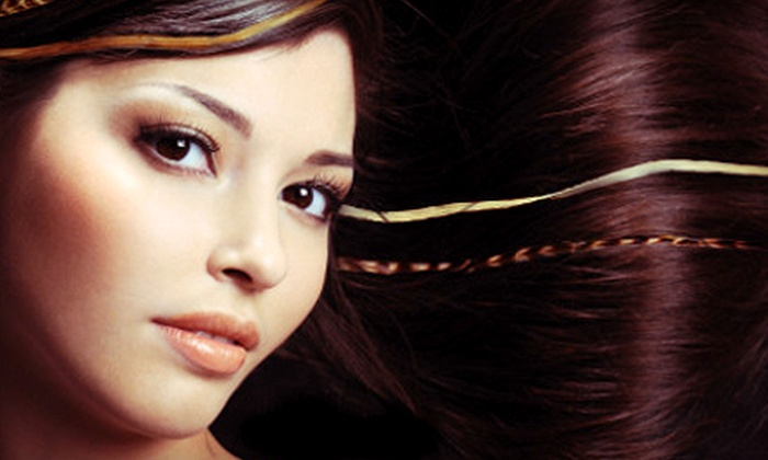 Hair Feather Factory - Uptown: Three or Five Feather Hair Extensions at Hair Feather Factory (Up to 52% Off)