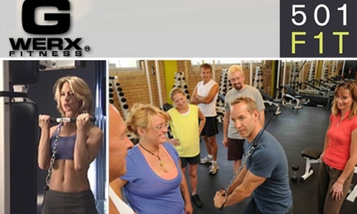 501FIT - Downtown West: $45 for 5 G-Werx Strength or 5 CardioFITBoxing Classes at 501F1T