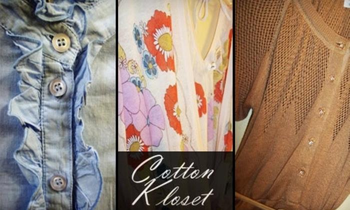 Cotton Kloset - Parker: $10 for $25 Worth of Merchandise at Cotton Kloset in Parker