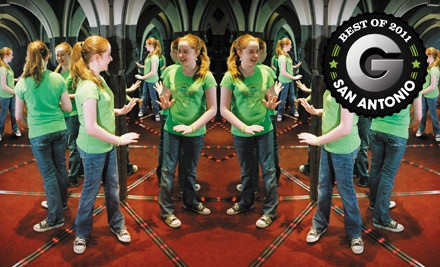 2 Tickets for All-Day Admission (a $27.98 value) - Ultimate Mirror Maze Challenge and The Vault Laser Beam Challenge in San Antonio