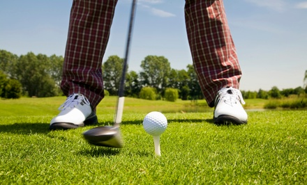 9- or 18-Hole Round of Golf for Two or 18-Hole Round for Four with Cart at Maple Brook Golf Course (52% Off)