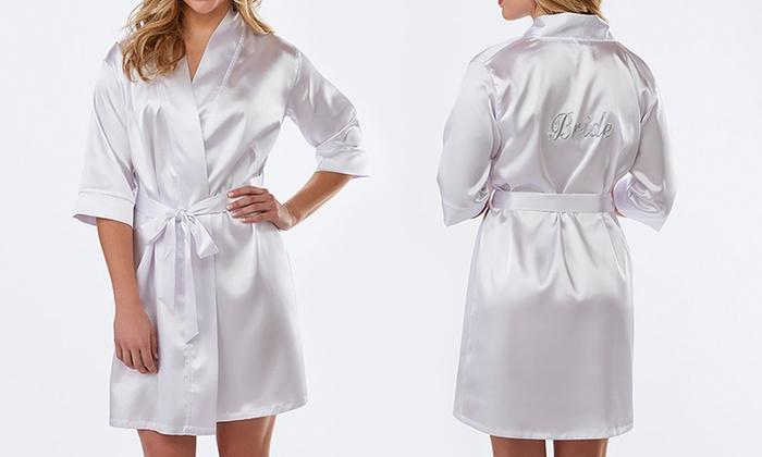 Sociology Women S Satin Bride Robe Groupon Exclusive Size