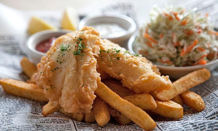 Newport Seafood Grill - Salem: $15 for Alaskan Cod Fish and Chips for Two at Newport Seafood Grill ($21.98 Value)
