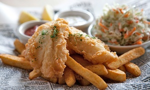 Newport Seafood Grill: $15 for Alaskan Cod Fish and Chips for Two at Newport Seafood Grill ($21.98 Value)