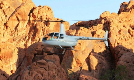 Helicopter Tour of Vegas Strip or Red Rock Canyon with Optional Tickets to See Anthony Cools (Up to 76% Off)
